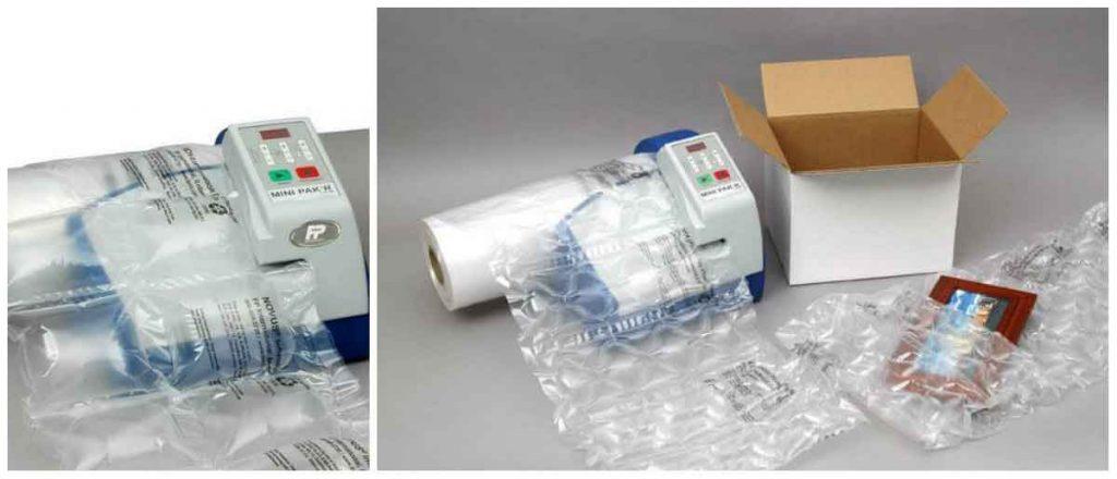 Luchtkussenmachine Mini pak'r standaard: de meest compacte oplossing voor het opvullen van bijvoorbeeld kleine tot middelgrote dozen.