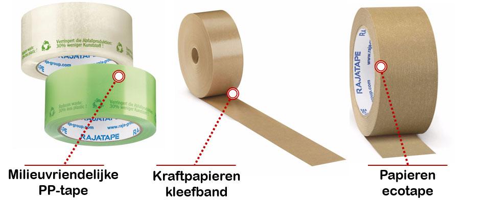 Milieuvriendelijke verpakkingstape van Rajapack