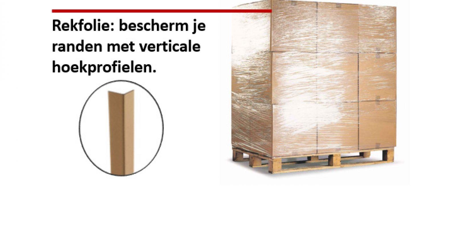 Refkolie met bescherming van verticale hoekprofielen