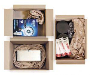 Papierkussens: vul bijvoorbeeld lege ruimtes in je doos op.