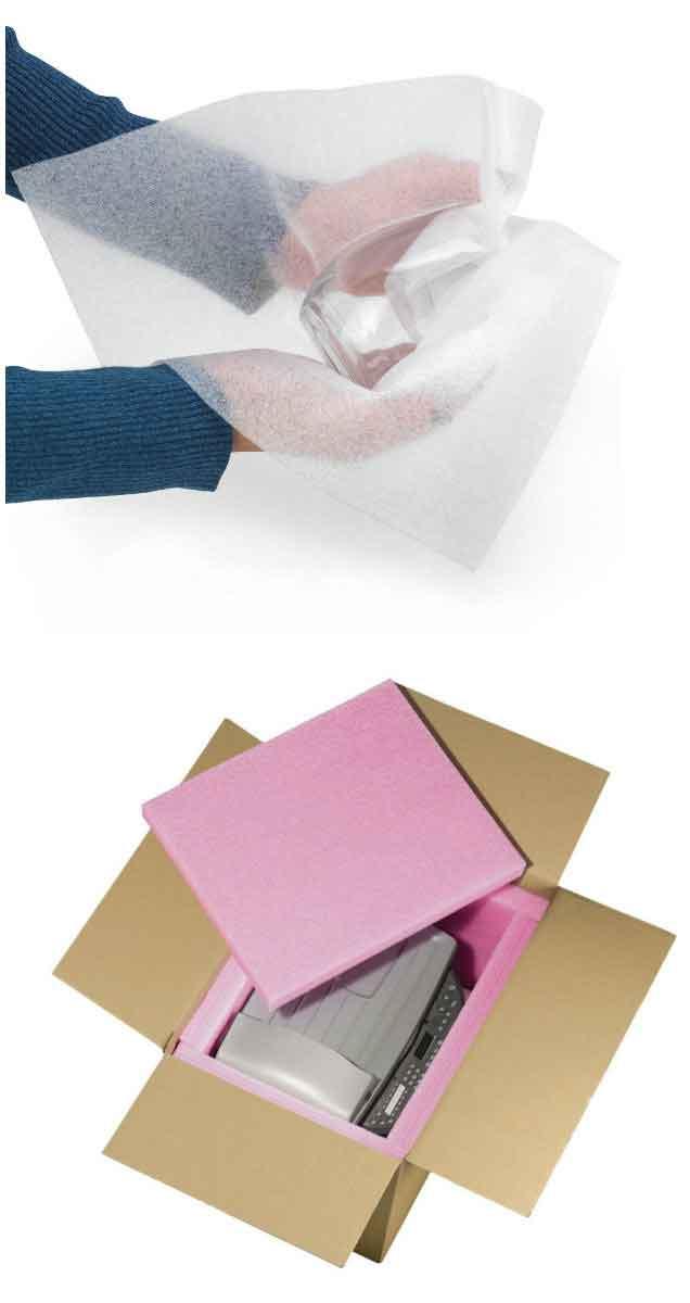 Schuimfolie en -platen voor een bescherming tegen zowel krassen als schokken.