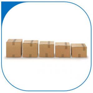 Doos met variabele vulhoogte voor e-commerce.