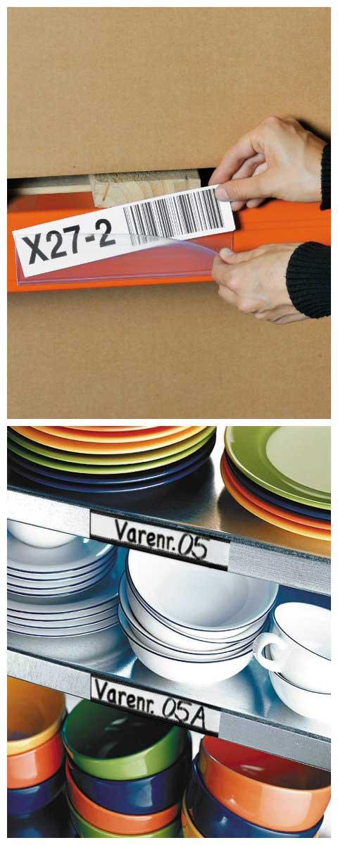Magazijnetiketten helpen je onder andere bij het identificeren van je producten.