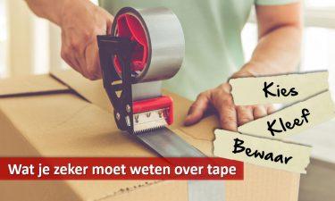 Dozen sluiten met tape: hoe doe je dat het best?