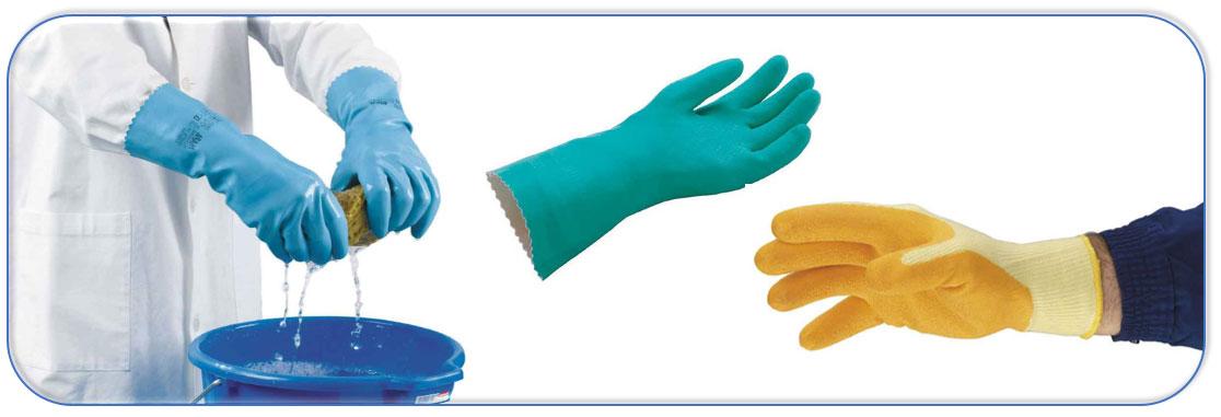 Handschoenen bestand tegen contacthitte.