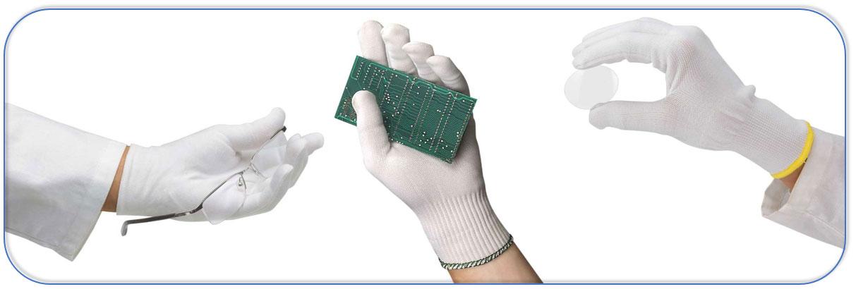 Handschoenen voor het meest delicate werk: optiek, juwelen, fotografie, horlogerie, enz.