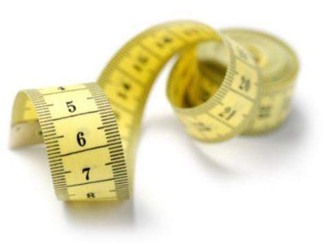Meetlint voor het meten van de omtrek van je hand.