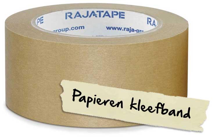 Gebruik een papieren kleefband voor het tapen van je kartonnen dozen