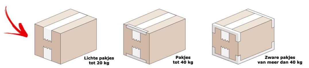 Dozen sluiten met tape is mogelijk volgens deze 3 technieken