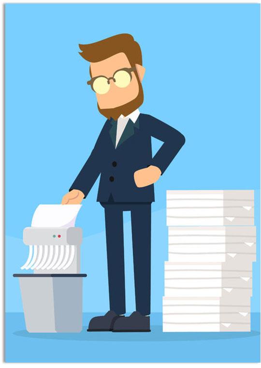 Papierversnipperaars helpen je bij het correct respecteren van de GDPR-wetgeving