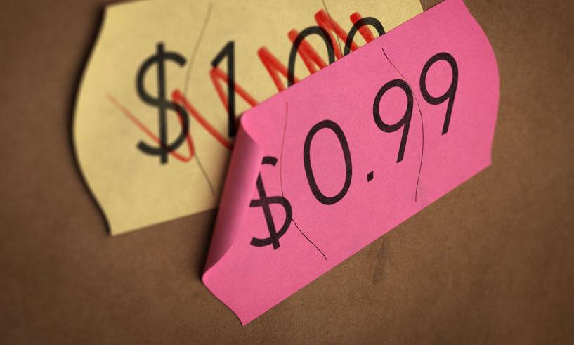 Hou je labeletiketten en etiketteertangen in de aanslag voor de koopjes
