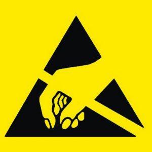 Symbool voor antistatische verpakkingen en materialen