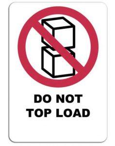 Do not top load label voor verpakkingen