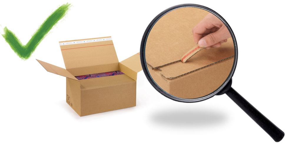 Kartonnen doos met openscheurperforatie