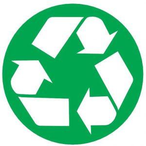 Verpakkingssymbool voor recycleerbare materialen