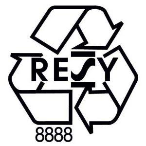 Resy logo voor een garantie op de recyclage van papier en karton