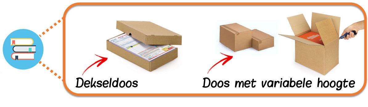 Verzend een stapel boeken met een dekseldoos