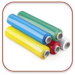 Gekleurde wikkelfolie om je pallets beter herkenbaar te maken