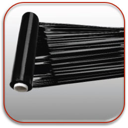 Zwarte gekleurde wikkelfolie voor handmatig wikkelen