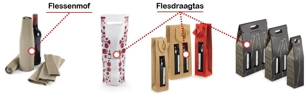 Verpak je fles elegant met een flesdraagtas