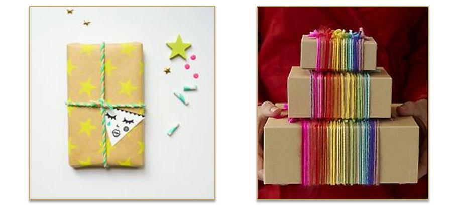 Verpak je cadeau met koorden en touwen
