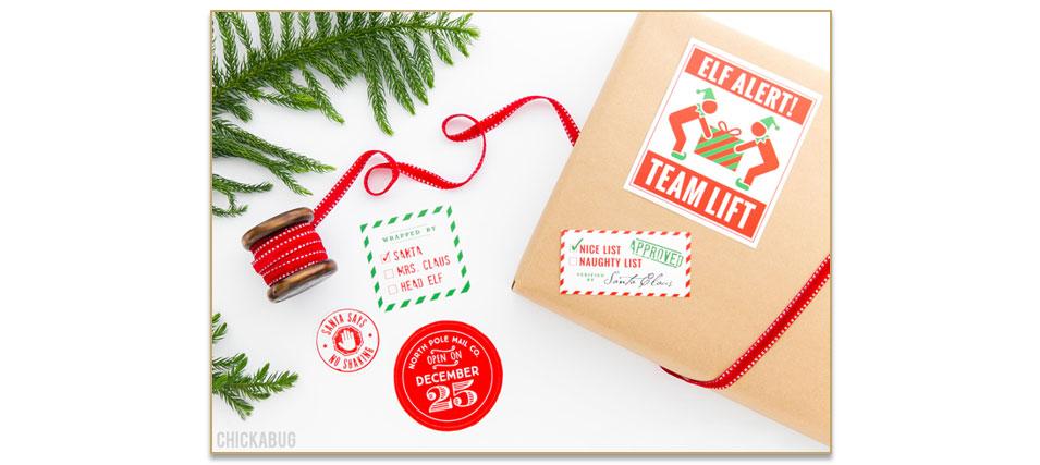 Decoreer je cadeau met stickers en etiketten.