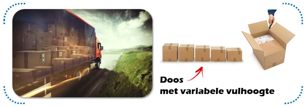 Verminder je transportkosten dankzij een doos met variabele vulhoogte