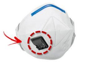 Stofmasker met ventiel en afsluitklep