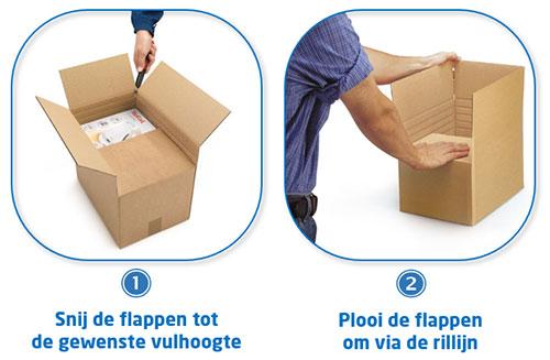 Hoe gebruik je een doos met variabele hoogte?