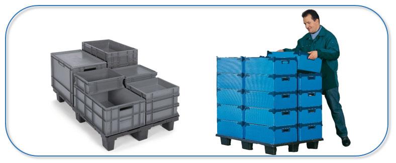Bespaar kosten met een herbruikbare transportverpakking.