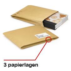 Gewatteerde papieren envelop 100% gerecycled van RAJA