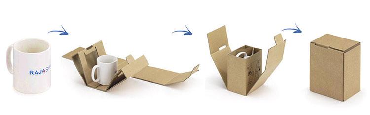 Verzend je koffiemokken in een postdoos op maat