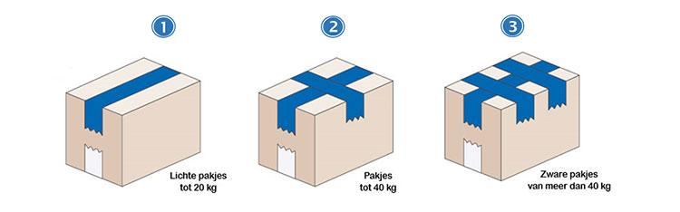 Drie manieren om dozen te sluiten met tape
