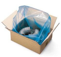 Corrosiebescherming met een grote plastic zak