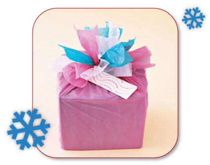 Plastic zakken als geschenkverpakking