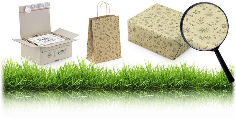 Geschenkverpakkingen van graspapier: cadeaupapier , geschenkzakjes en draagtassen.