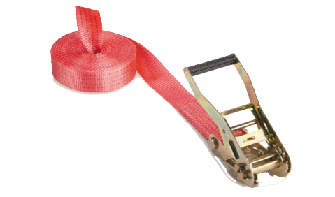 Spanbanden om grote ladingen vast te zetten.