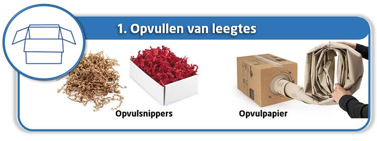 Verpakken en beschermen met papier: opvullen van leegtes