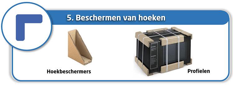 Beschermen van hoeken dankzij karton