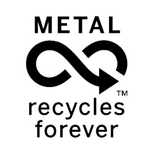 Ecologisch label voor recyclebaar metaal