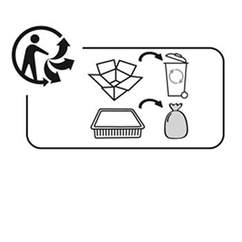 Triman logo voor recyclebare producten