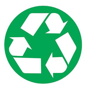 Logo voor recyclebare verpakkingen